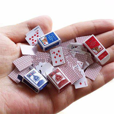 Mini Cute Poker Home Decoration Karty pokera Gra Gra Kreatywny prezent