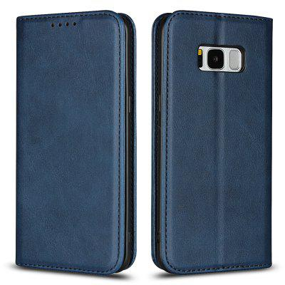 Color Matching Protective Leather Case for SAMSUNG Galaxy S8 Plus