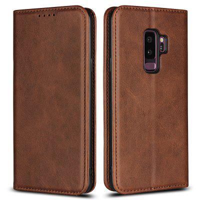 Color Matching Protective Leather Case for SAMSUNG Galaxy S9+