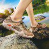 Men Mesh Hollowed Out Breathable Outdoor Leisure Creek Wading Shoes - LIGHT BROWN