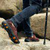 Men Leather Wear-Resistant Outdoor Leisure Hiking Travel Shoes - COFFEE