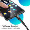 TIEGEM Micro USB Cable Fast Charging Data Charge Cord Microusb Charger Cable - TWILIGHT BLACK