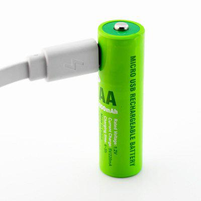Soshine NiMH AAA Rechargeable Battery with Built-In Micro USB Port 2 Ways to Cha