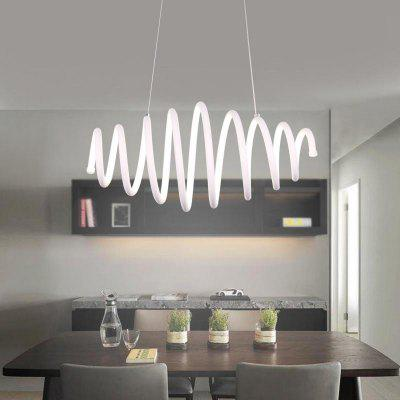 Modern Multi-Ring Spring-Shaped LED Chandelier for Restaurant 220-240V