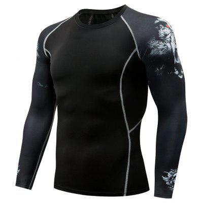 Mens Compression Thermal Under Base Top Long Sleeve Tights Sports T-shirt