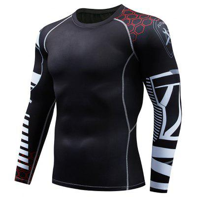 Quick Dry Fitness Tights Gym Men Sportswear Basketball T-Shirt
