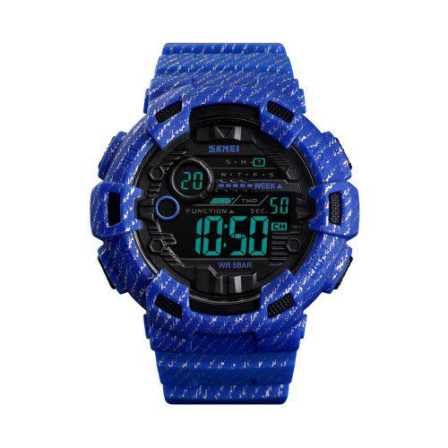 SKMEI 1472 Men'S Multi-Functional Fashion Camouflage Sports Electronic Watch