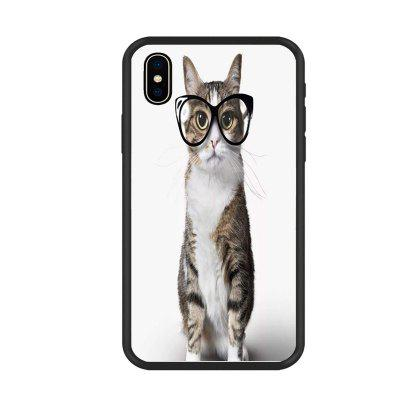 Lovely Cat 8 Organic Nano Scratch Resistant Mobile Phone Case for iPhone X