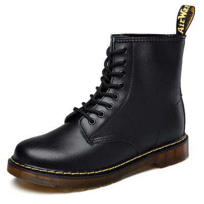 Leather High 8 Hole Classic Slip Wear Women'S Boots