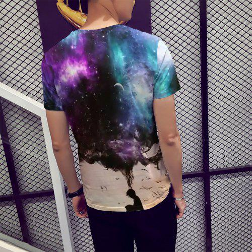 Homme Star shirt Junior CourtesMulti Universe M 3d À Impression New Manches 2019 T 7yfb6vYg