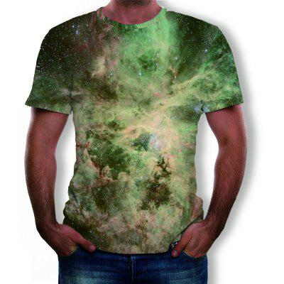 3D Summer Fashion Starry Camouflage Print Men's Short-Sleeved T-shirt