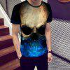 Fashion Skull Print Men's Short sleeve T-shirt - MULTI