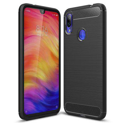 Koolstofvezel TPU Soft Phone Case voor Redmi Note 7 / Redmi Note 7 Pro
