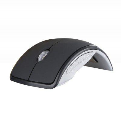 Wireless  2.4G  Foldable Folding Arc  Optical Mouse