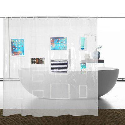 Clear Shower Curtain Liner Tablet Or Phone Holder Waterproof