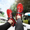 Men Knob Buckle Outdoor Riding Mesh Breathable Cycling Shoes Sneakers - RED