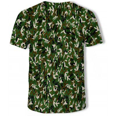 3D Summer Fashion Camouflage Printed Men's Short-Sleeved T-shirt