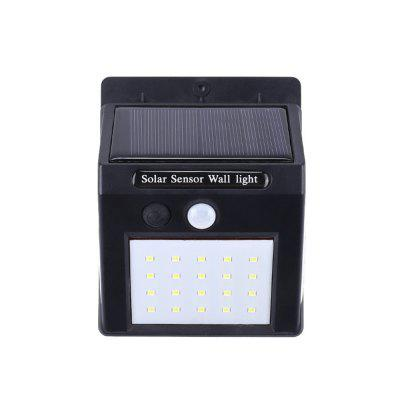 BRELONG Solar LED Wall Lamp IP65 Waterproof Three-Sided Lighting Motion Sensor