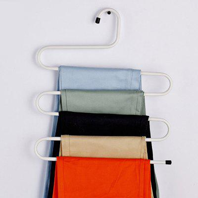Wardrobe WROUGHT IRON Multilayer Trousers Rack 5PCS
