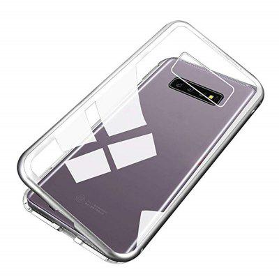 Magnetically Absorbing Metal Tempered Glass Flip Case for Samsung S10