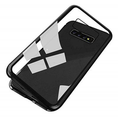 Magnetically Absorbing Metal Tempered Glass Flip Case for Samsung S10 Plus