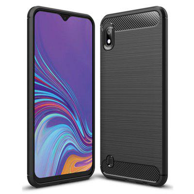 Shockproof Back Cover Carbon Fiber Case for Samsung Galaxy A10
