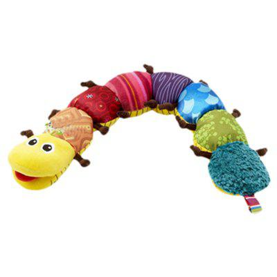 Cute Caterpillar Plush Doll with Ring Bell Early Learning Educational Toy