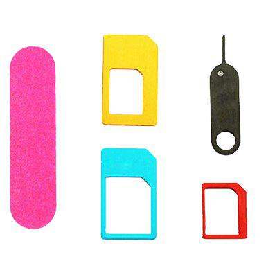 5in1 Nano Micro Standard Sim Card Adapter