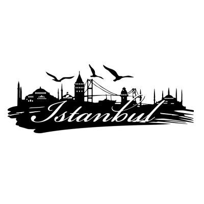 Istanbul Urban Silhouette Home Living Room Background Wall Decoration Sticker