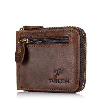 Cartera Tangguh Zip Marrón