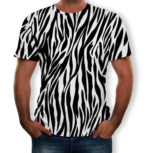 Manches Courtes Fashion Pour 3d T Rayures Personality À S HommesMulti Summer shirt gf7ImbyvY6