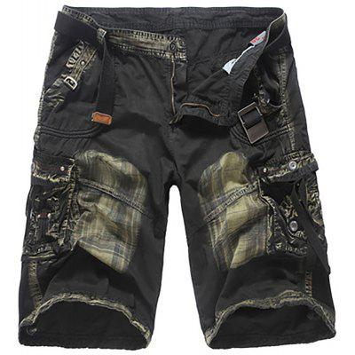 Loose Men'S Fashion Cotton Camouflage Tooling Five Pants Shorts