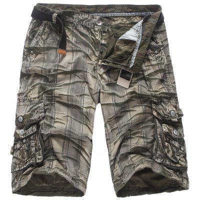 Fashion Overalls Shorts Camouflage Men'S Cotton Loose Five Pants