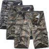 Fashion Overalls Shorts Camouflage Men'S Cotton Loose Five Pants - CAMOUFLAGE GREEN