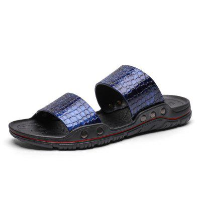 ZEACAVA Large Size Male Summer Softwood Sandals Slippers Beach Shoes