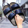 ZEACAVA Large Size Male Summer Softwood Sandals Slippers Beach Shoes - BLUE