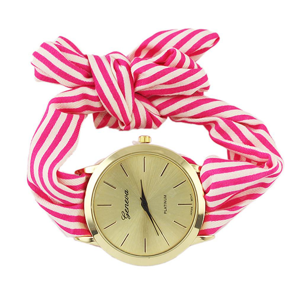 Chambray Candy Color Watchband Wrist Watch