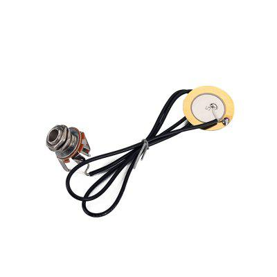 Guitar Transducer Metal Pre-Wired Amplifier Piezo Jack Pickup Guitar Accessory