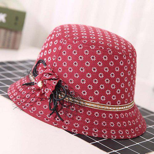 Fashion Vineux Casual Unique Floral Sunscreen Hat T0357Rouge Coton Imprimer Nice New Woman Summer Taille n0wN8yOPvm