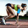 Waterproof Outdoor Sports Cellphone Arm Bag Running Fitness Riding Armband - BLUE