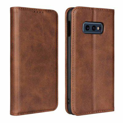 Color Matching Protective Leather Case For SAMSUNG S10E