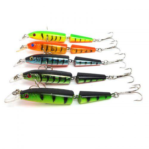 5x fishing lures mixed 5 model minnow lure artificial crankbait fishing tackle X
