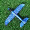 35CM DIY Hand Throw Flying Glider Planes Toys For Children Foam Aeroplane Model - BLUE