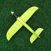 35CM DIY Hand Throw Flying Glider Planes Toys For Children Foam Aeroplane Model - GREEN
