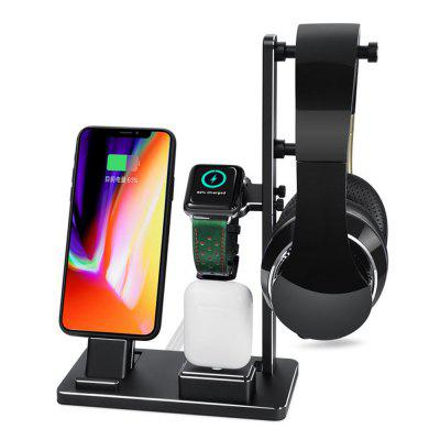 Charging Holder Stand Station Aluminum Charging Stand for iWatch/IPhone/Earphone