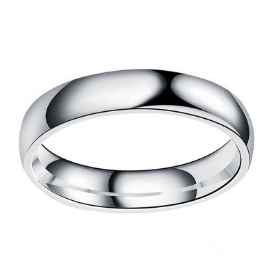 Simple Titanium Steel Cambered Surface Ring Stainless Steel Glaze Ring