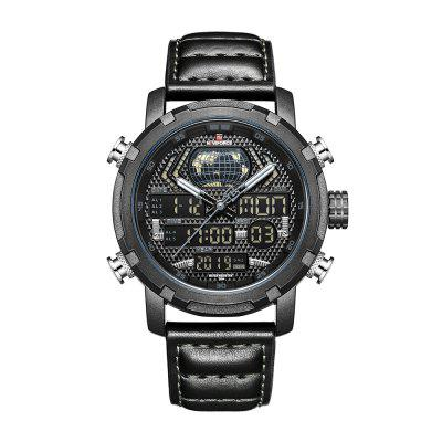 9160 Men'S Sports Dual Display Movement Multi-Function Watch