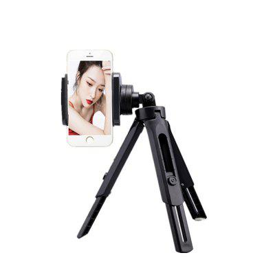 R11 2 in 1 Desktop Three-way Tripod for Camera Camcorder with Phone Clip Holder