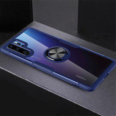 Rotation Ring Magnetic Kickstand Clear Protective Cover Case for Huawei P30 Pro