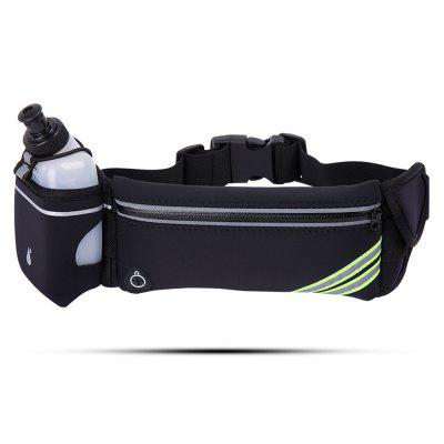 Outdoor Waist Bag Pack + Kettle + Reflective Strips for Safe Sports Run at Night